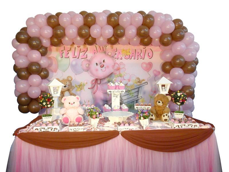 Urso rosa com marron