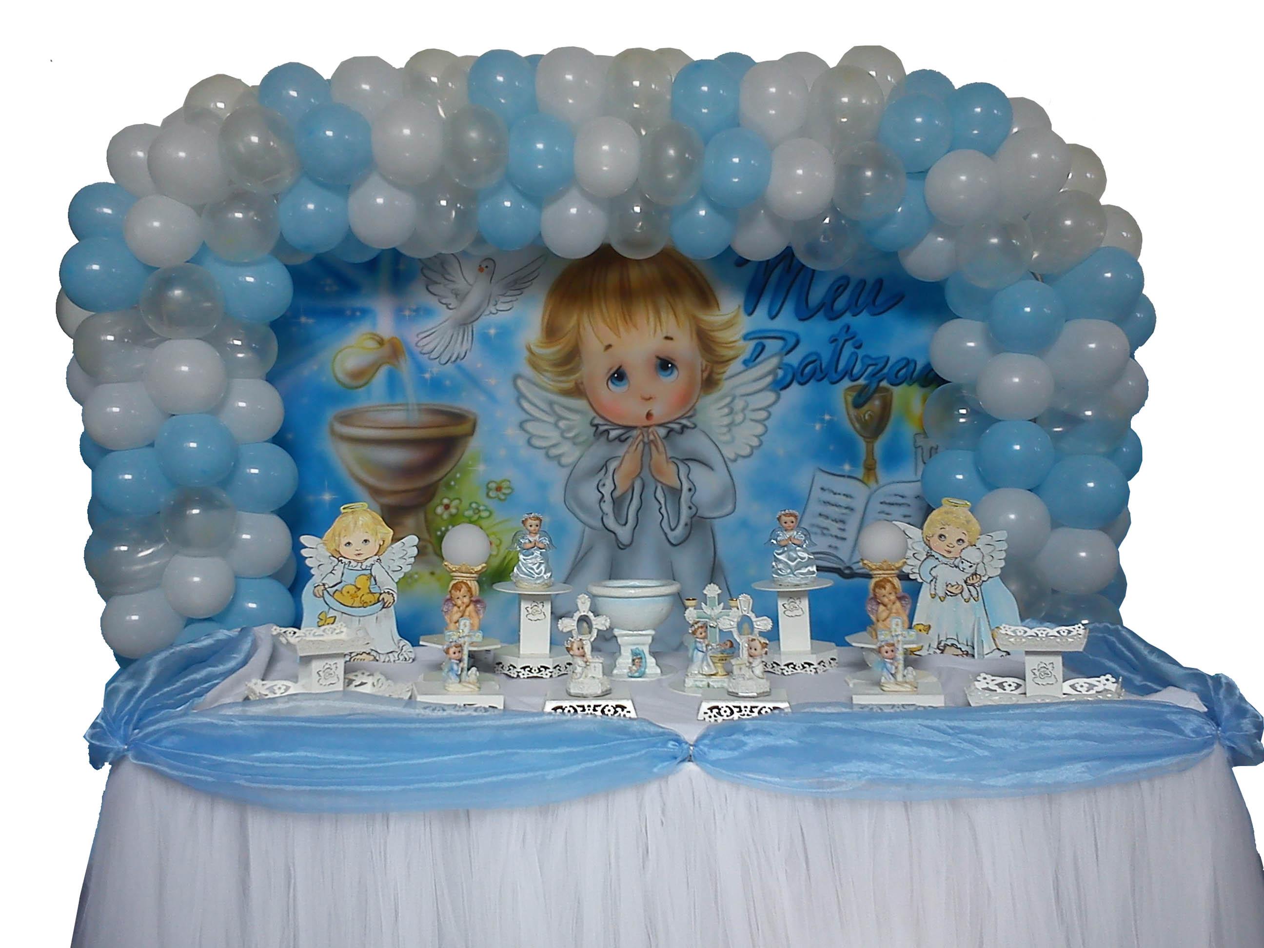 Batizado azul semi provençal