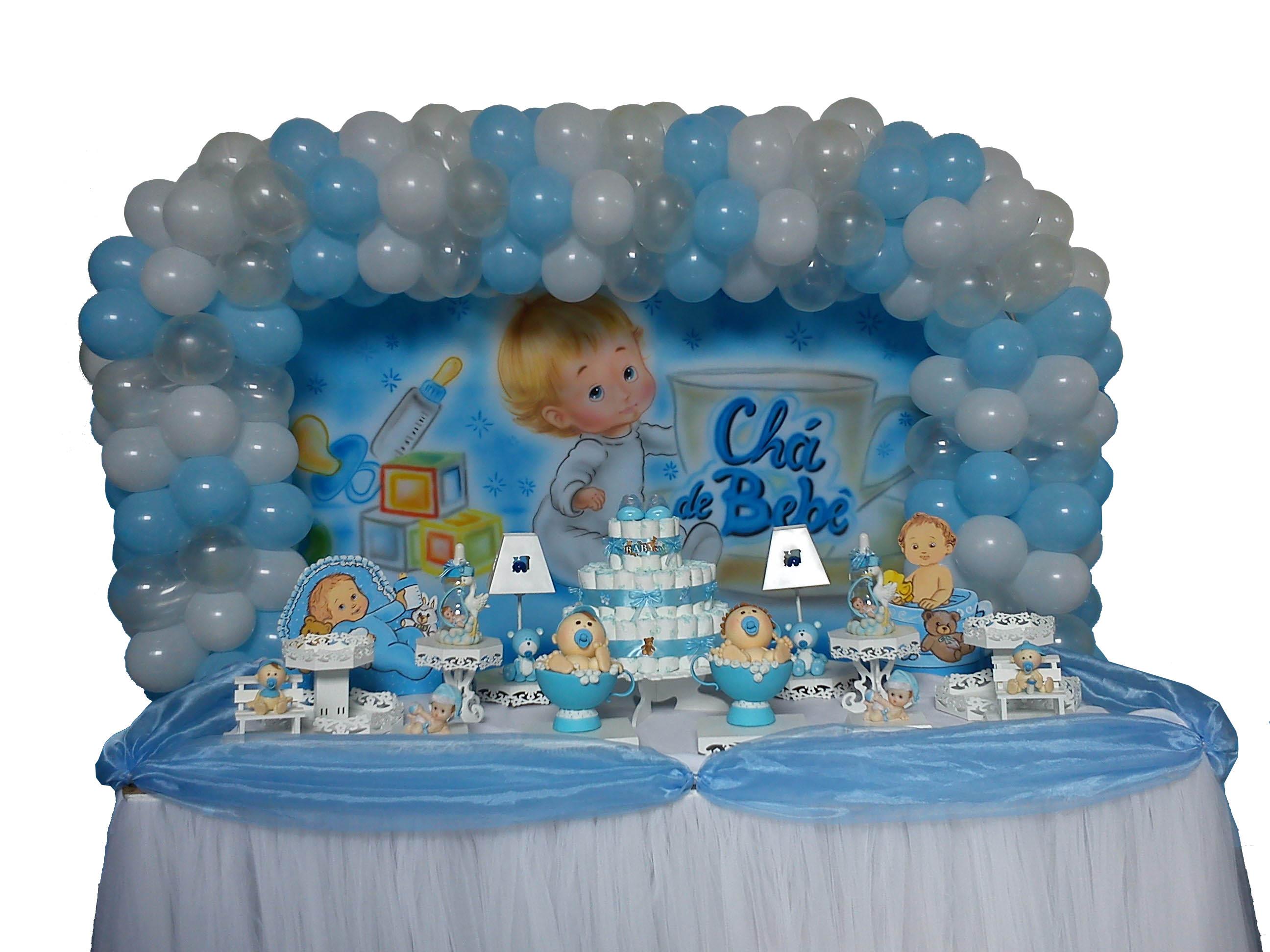 Chá de Bebê azul Semi Provençal